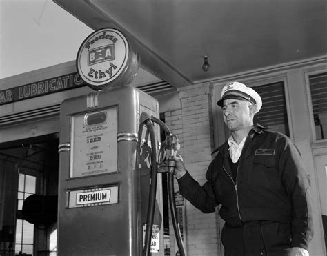 gas station attendants search gas