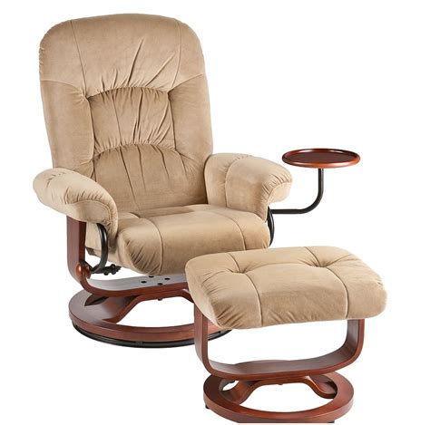 european recliner with ottoman holly martin tyler fabric euro style recliner and