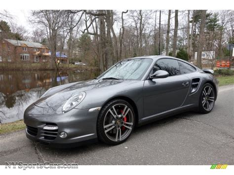 grey porsche 911 turbo 2010 porsche 911 turbo coupe in meteor grey metallic photo