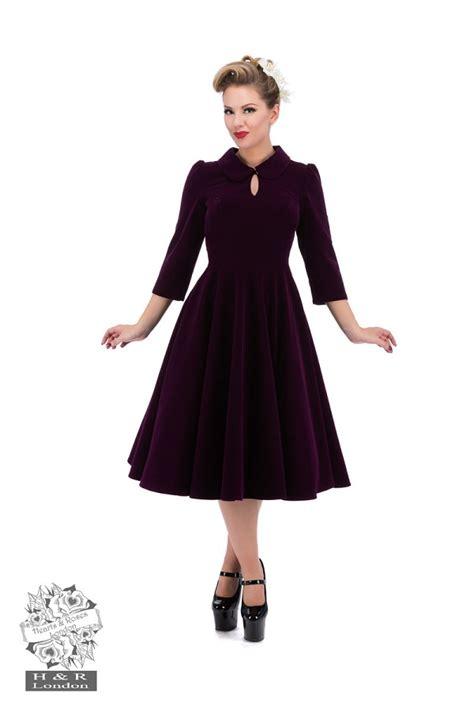 swing dress size 18 glamorous in purple velvet tea swing dress 50s style