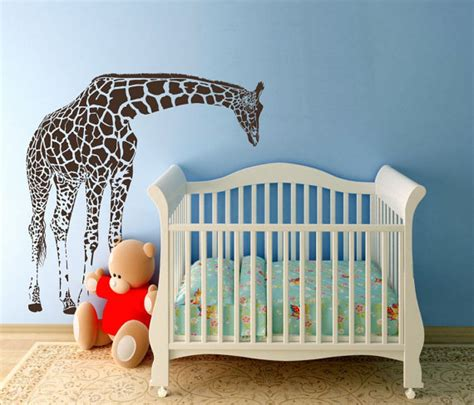 giraffe wall decals for nursery sale large giraffe baby nursery wall decals by