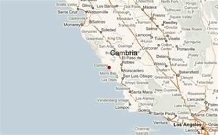 cambria california map cambria california location guide