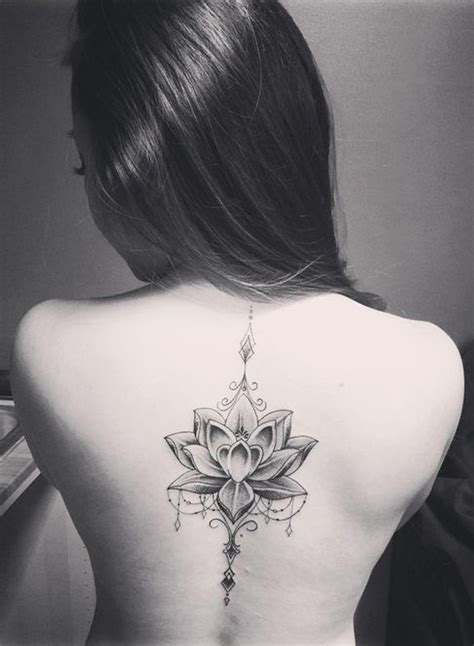 tattoo placement female 100 most popular lotus tattoos ideas for women spine