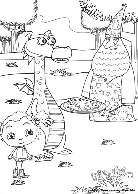 franny s feet coloring picture