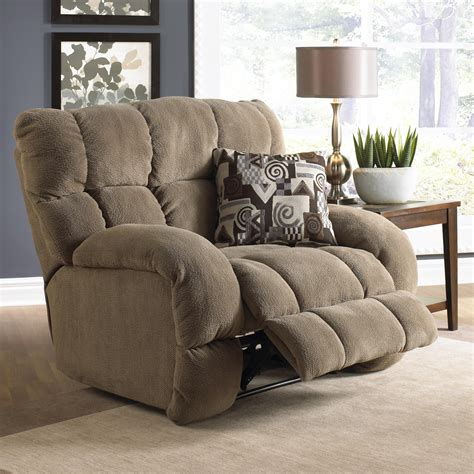 extra wide recliner siesta lay flat recliner with extra wide seat by catnapper