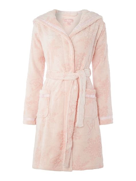 lipsy robe lipsy embossed robe with ears in pink lyst