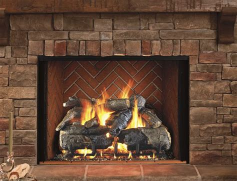 gas log fireplace early times