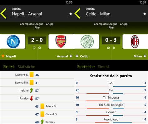 calcio diretta sul mobile calcio in diretta per windows phone l app che aspettavano