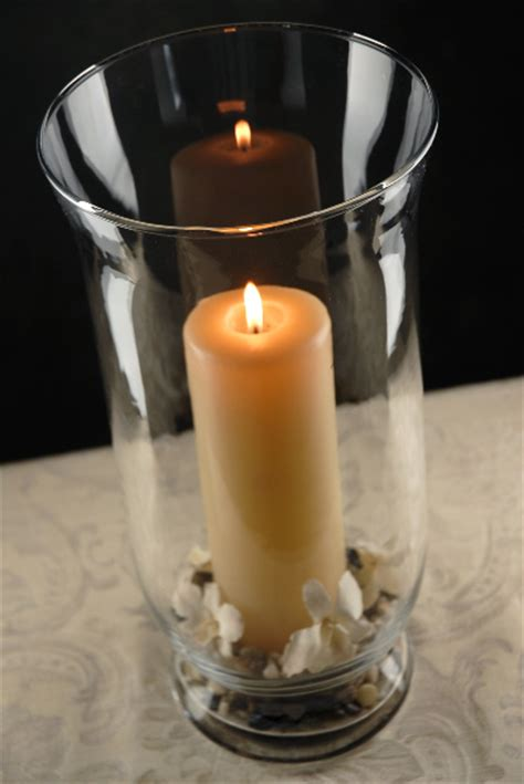 Home Decor Candle Lanterns Clear Glass Hurricane Vase 16in
