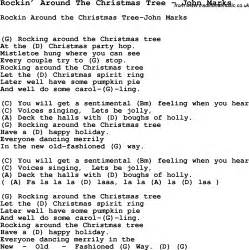 song rockin around the christmas tree by john marks song