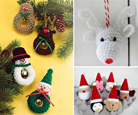 free christmas decorations to make crochet ornaments free patterns the whoot