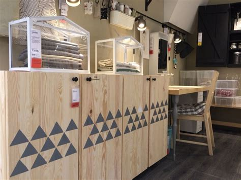 ikea ivar cabinet hack st grey triangles on ikea ivar doors and you ll get this scandinavian effect storage ikea