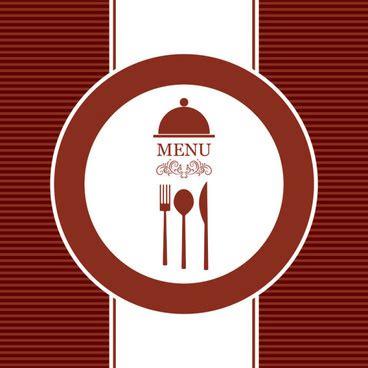 menu card design template vector restaurant menu cover template free vector