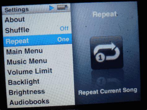song repeat ipod nano make song repeat