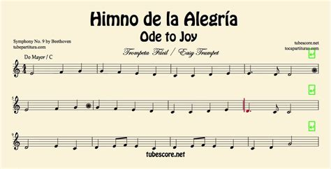 ode to joy violin piano himno de la alegr 237 a himno de la alegr 237 a partitura de trompeta f 225 cil en do mayor partituras en la descripci 243 n youtube