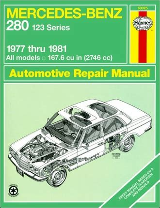 free online auto service manuals 1981 mercedes benz w126 user handbook mercedes benz 280 e 280 ce repair manual haynes 63025