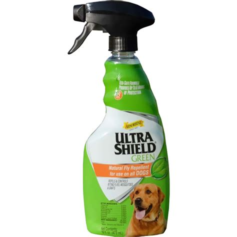 fly repellent for dogs ultrashield 174 green fly repellent spray for dogs 16 fl oz healthypets