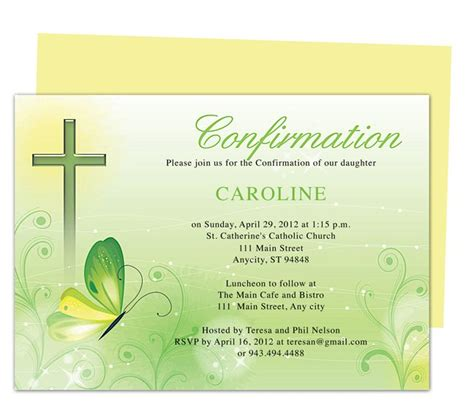confirmation invitations templates free 48 best images about confirmation ideas on