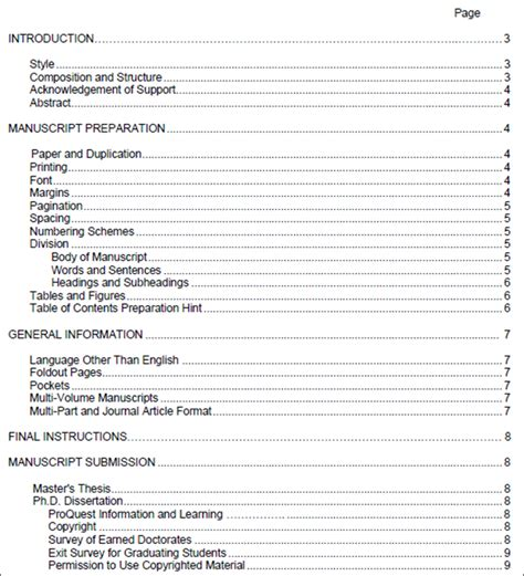 table of contents word template 8 table of contents templates word free