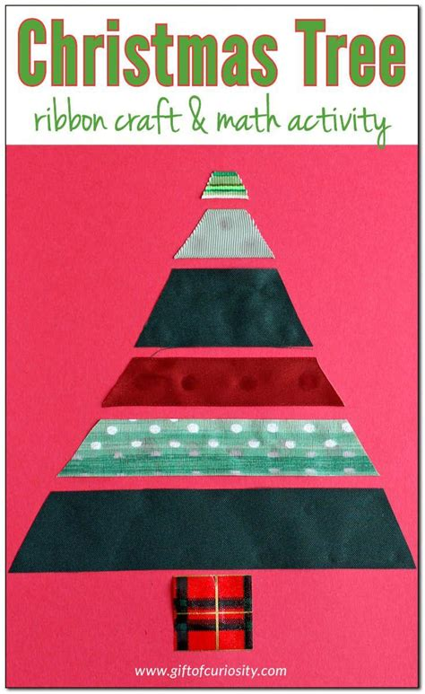 christmas tree stumper math 17 solution tree ribbon craft and math activity trees crafts and ribbon crafts