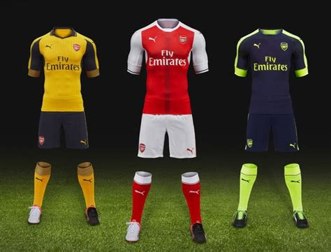 arsenal away kit 2016 17 arsenal launches 2016 17 away third kits in los angeles