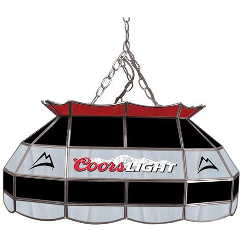 coors light pool table light coors light 174 28 quot stained glass pool table l 281487
