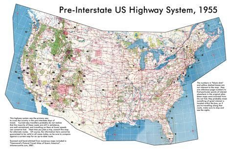 map usa large large detailed map of usa highway system 1955 usa