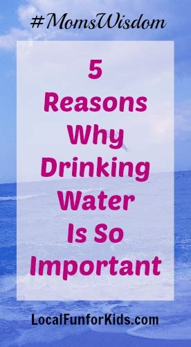 5 reasons why water is so important momswisdom local for