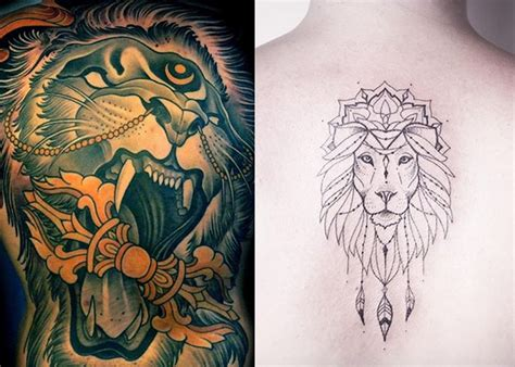 imagenes leones tatuajes tatuajes de leones para hombres mujeres y sus diferentes