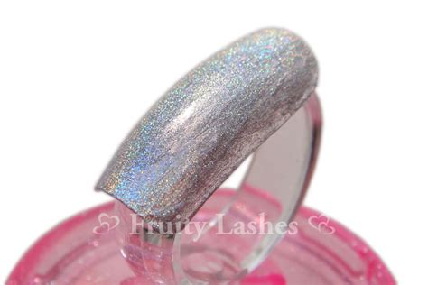 Chanel Duo Platinum Holographic Nail by Color Of The Week Chanel Duo Platinum Holographic