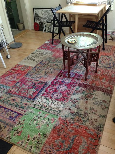tappeti rugs silkeborg patchwork vintage turkish rug from ikea