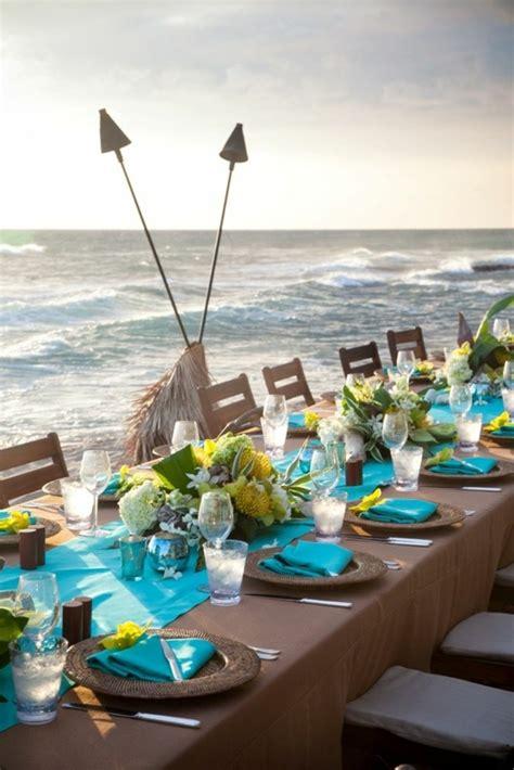 Strand Deko Hochzeit by Tischdeko In Blau Faszinierende Ideen