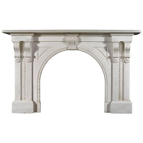 arched fireplace mantels antique white statuary marble arched fireplace