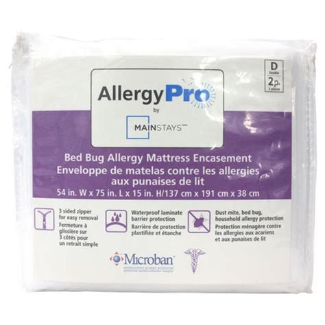 bed bug allergy mainstays bed bug allergy mattress encasement walmart canada