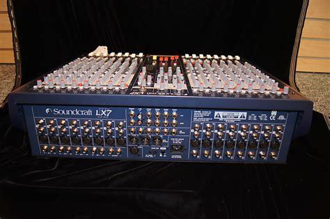 Mixer Lx7ii soundcraft lx7ii 16 live recording channel mixer console reverb