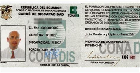 deduccion discapacidad 2015 ecuador sacar carnet de discapacidad del conadis ecuador
