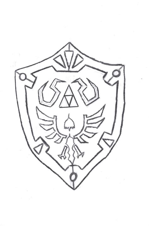Hylian Shield Outline by Captain America Shield Coloring Pages Bestofcoloring