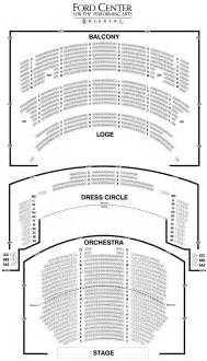 Cadillac Theater Seating Chart Ford Center Theatre Seating Chart Theatre In