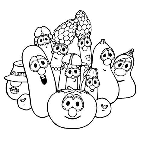Printable Veggie Tales Coloring Pages Coloring Me Veggietales Coloring Pages