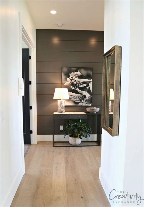 painted shiplap accent walls in rich colors home decor