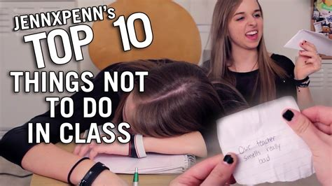 7 Things Not To Do When by Jennxpenn S Top 10 Things Not To Do In Class