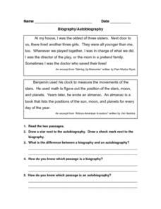 biography lesson plans for 5th grade autobiography writing for 3rd graders best photos of