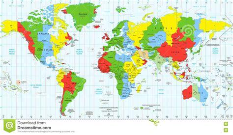 world of color time zonas horarias detalladas est 225 ndar mapa mundo