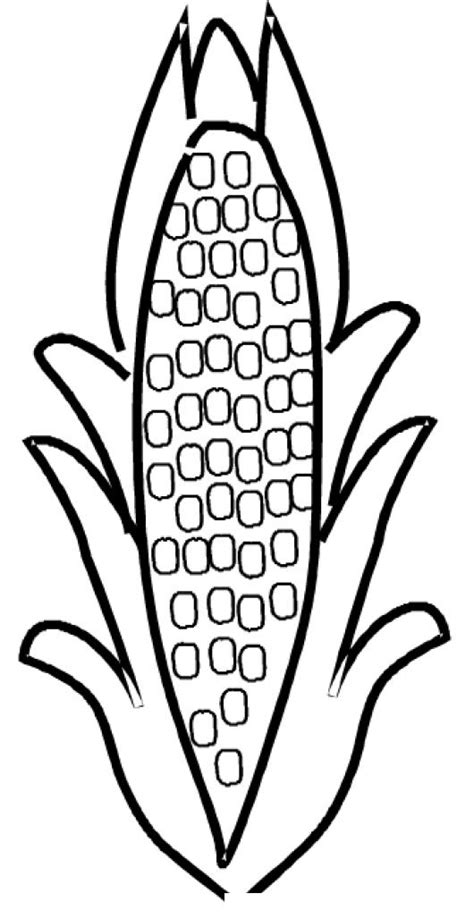 corn on cob coloring pages