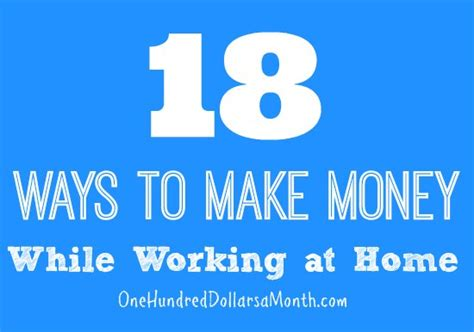 how to make money working at home income earning ideas