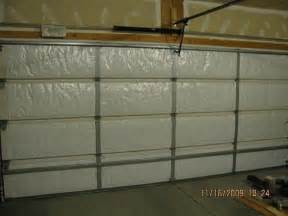 nasa tech reflective white foam garage door