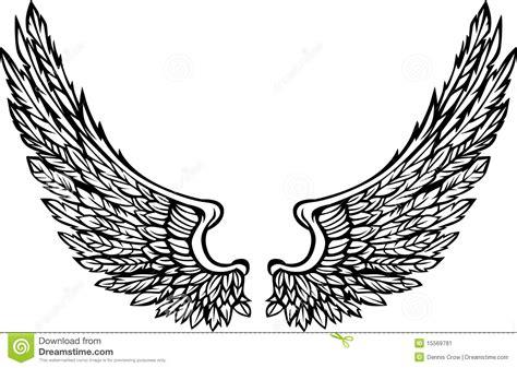 convertir imagenes jpg a svg las alas adornadas vector imagen ilustraci 243 n del vector