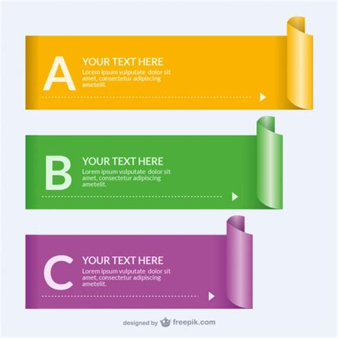 A Paper Banner - rolled paper banner templates vector free