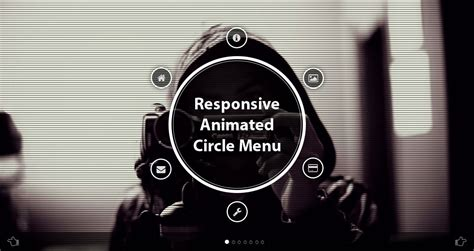 Circles Responsive Menu responsive animated circle menu bundle by codbits codecanyon