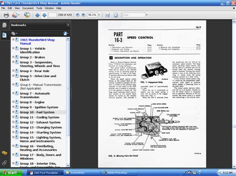automotive repair manual 1965 ford thunderbird auto manual 1965 ford thunderbird owners manual